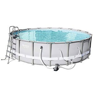 "Bestway 56399E Power Steel Above Ground 18' x 52"" Backyard Frame Pool Set"