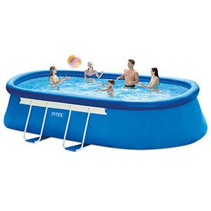 Intex 18ft X 10ft X 42in Oval Frame Pool Set with Filter Pump