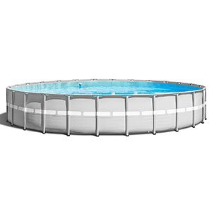 "Intex 26' x 52"" Ultra Frame Above Ground Swimming Pool Set with Pump and Ladder"