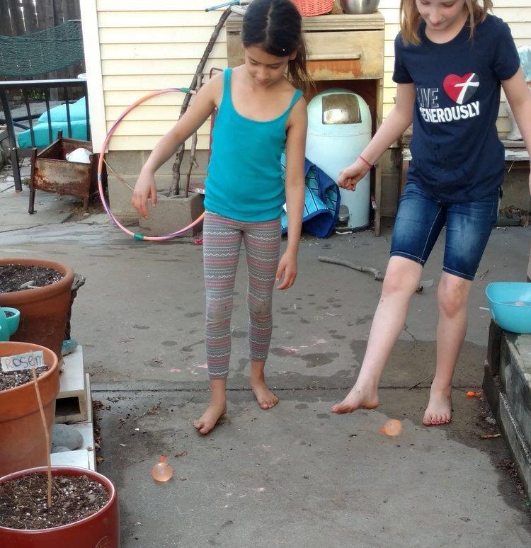 Kick the Water Balloon Game