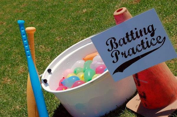 Water Balloon Batting Game