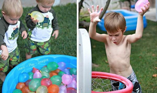 Water Balloon Basketball Game