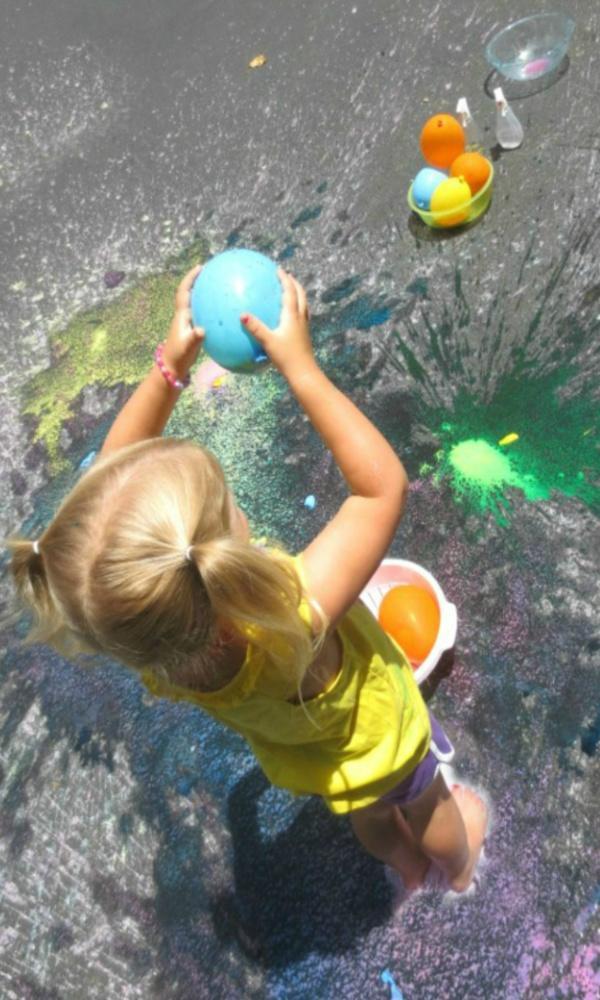 Water Balloon Splat Painting Game