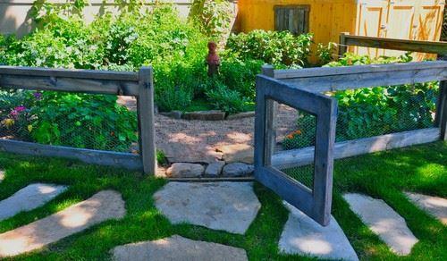 Eclectic Garden Door