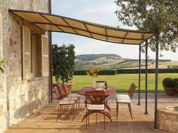 Patio with long Sunshade
