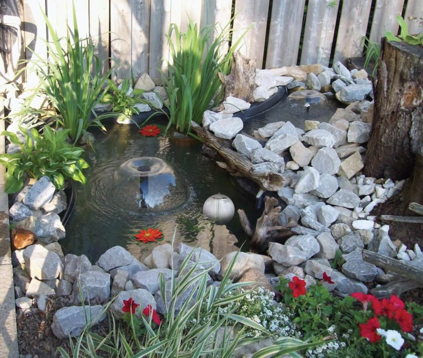 A Small Fountain Pond