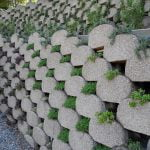 Stacked Stone Retaining Walls