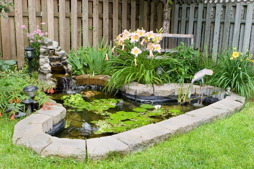 Garden Pond idea For the Corners