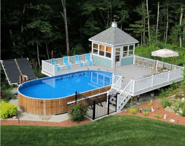 Above the Ground Pool with Pool Deck