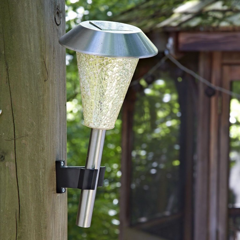 Solar Deck Lights Mounted on Trees