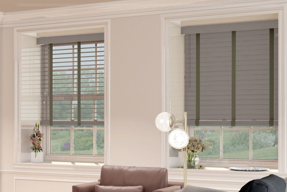 Urban Real Wood Venetian Blind with Portland Tapes