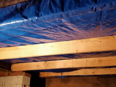 Plastic Sheet under Manufactured Homes