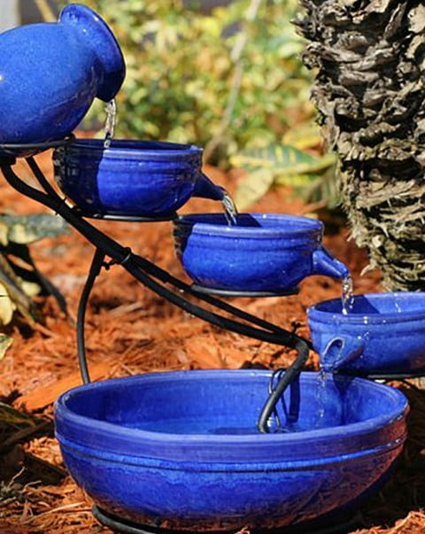 Outdoor Bird Bath Fountain