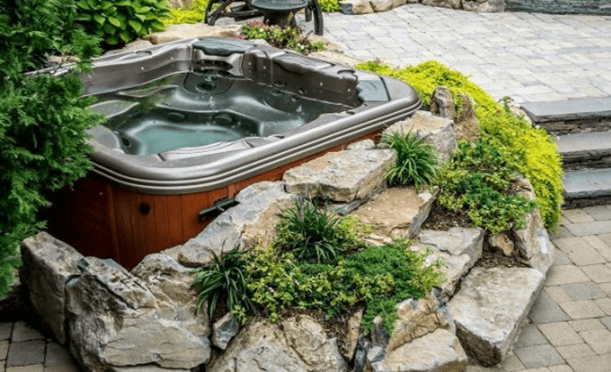 Set the Hot Tub Deck Within Natural Setting