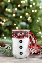 Snowman Candle