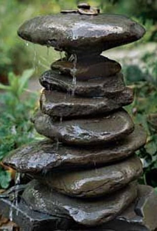 Stacked Stones Water Feature