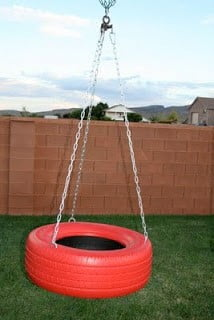 Swings from Old Tyres