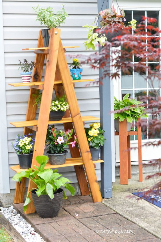 A-Frame Folding Plant Stand