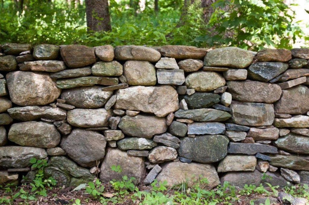 A Full Stone Fence Gate