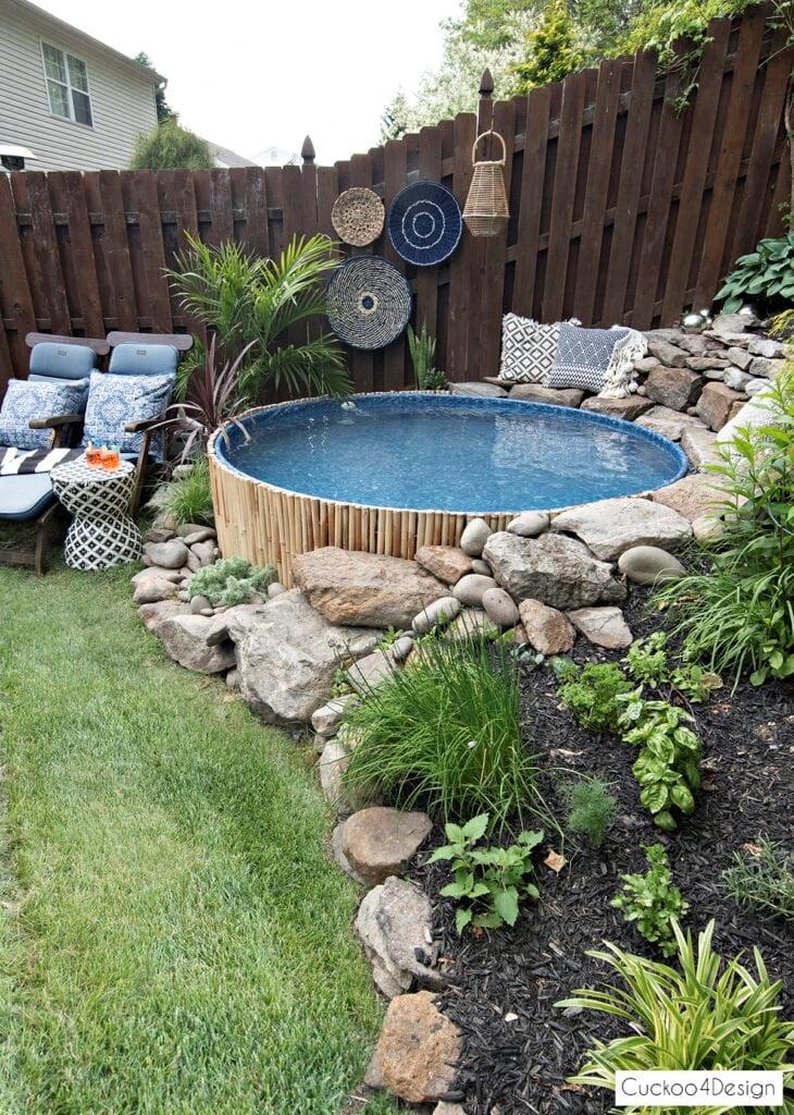 Above Ground Pool for Corner