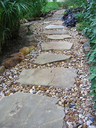 Single Stone Path Dry Riverbed