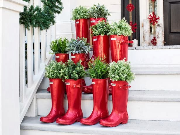 Christmas Tree using Potted Boot Plants