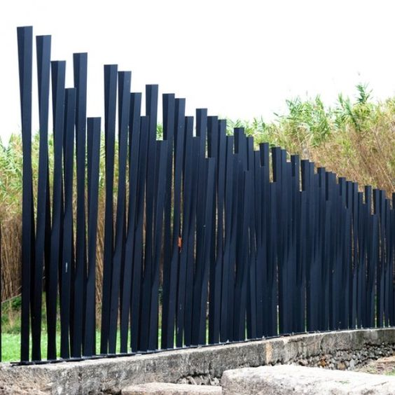 Contemporary Steel Privacy Fence