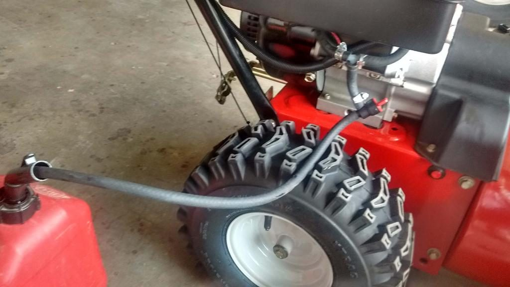 Drain Gas from Snowblower