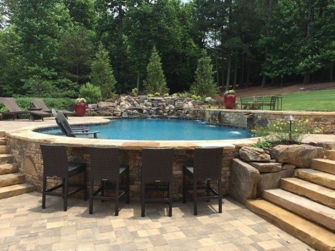 Embedded Above Ground Pool