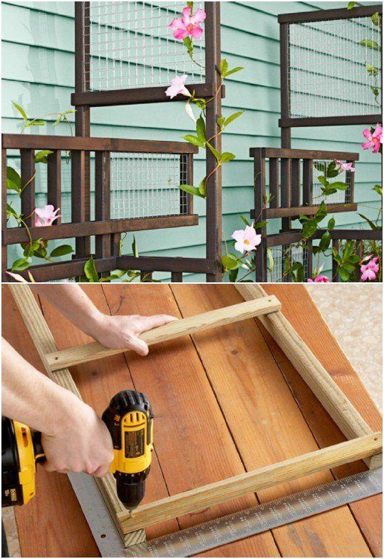 Freestanding Flower Trellis
