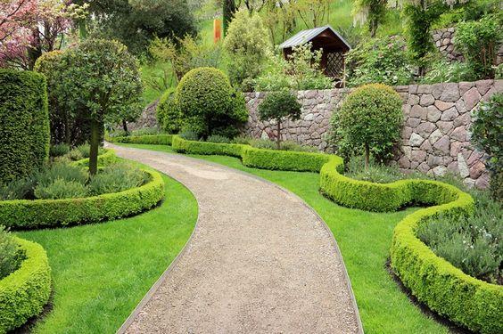 Garden Hedge Path