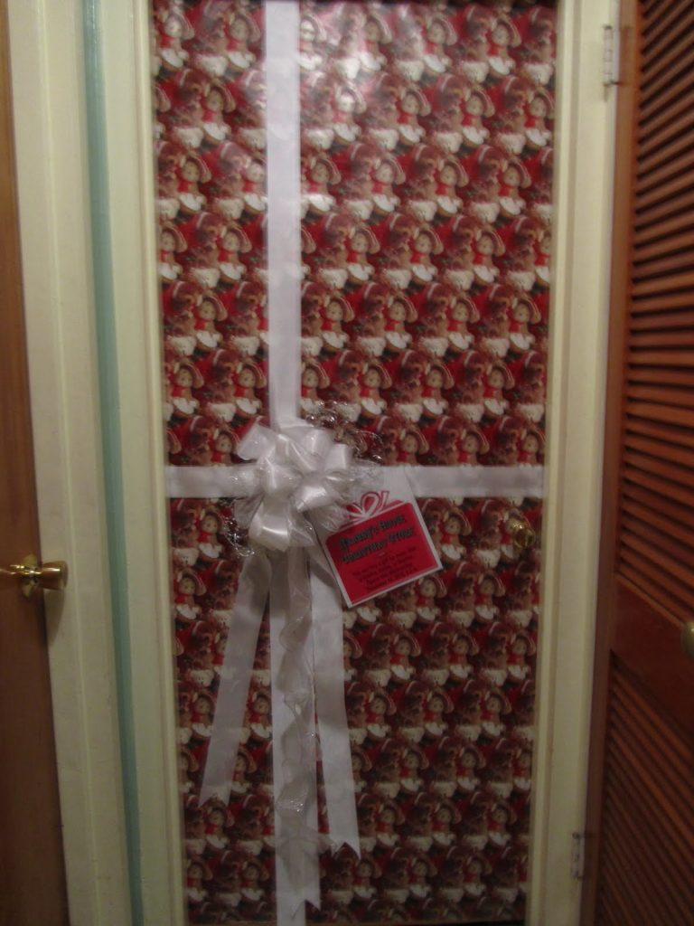 Gift Wrapped House Door