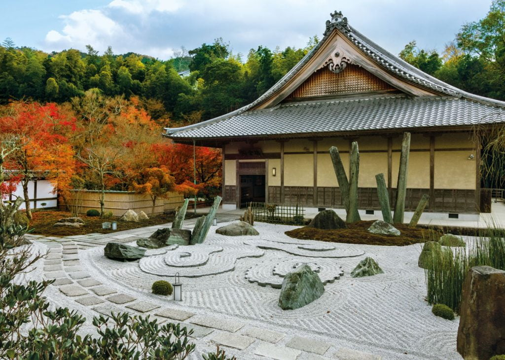 Japanese Garden with Temple
