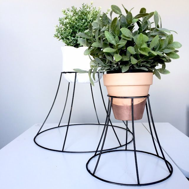 Lampshade Plant Stand