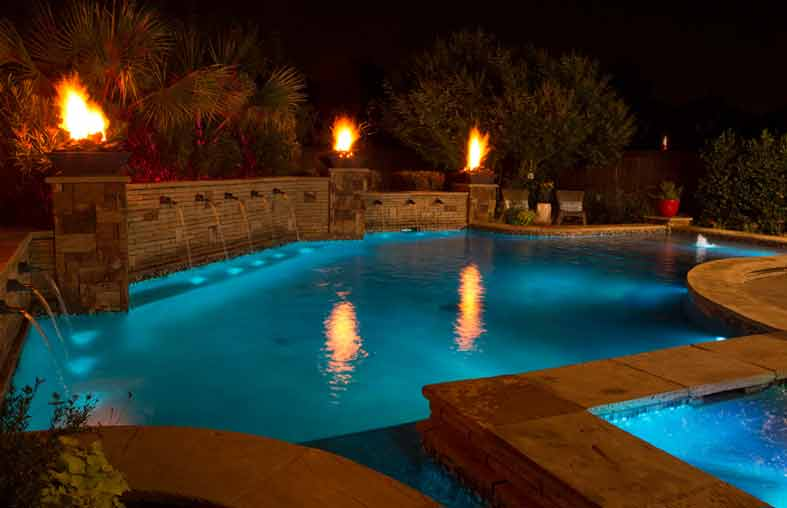 Lights Equipped Above Ground Pool