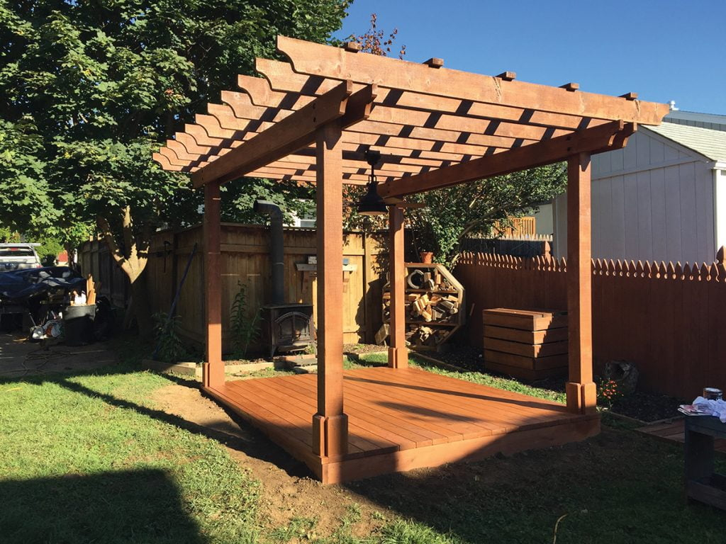 Pergola with a Wooden Deck
