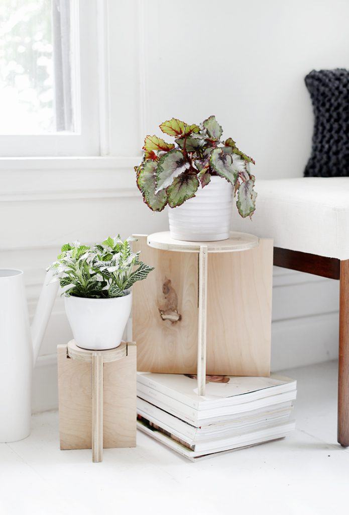 Plywood Plant Stand
