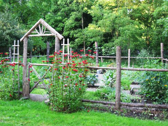 Simple Log Fence Gate