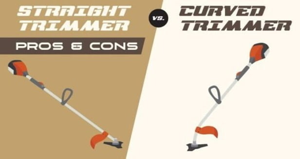Straight vs Curved Shaft Weed Trimmers Pros and Cons