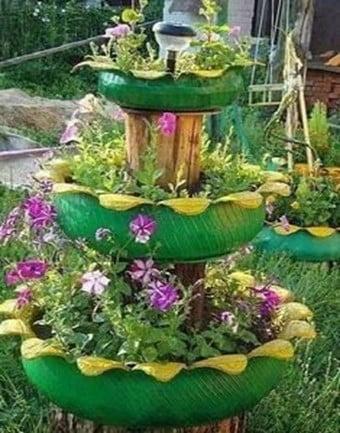 Succulent Fountain Garden
