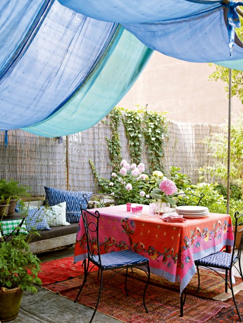 Under Awning Dining Space