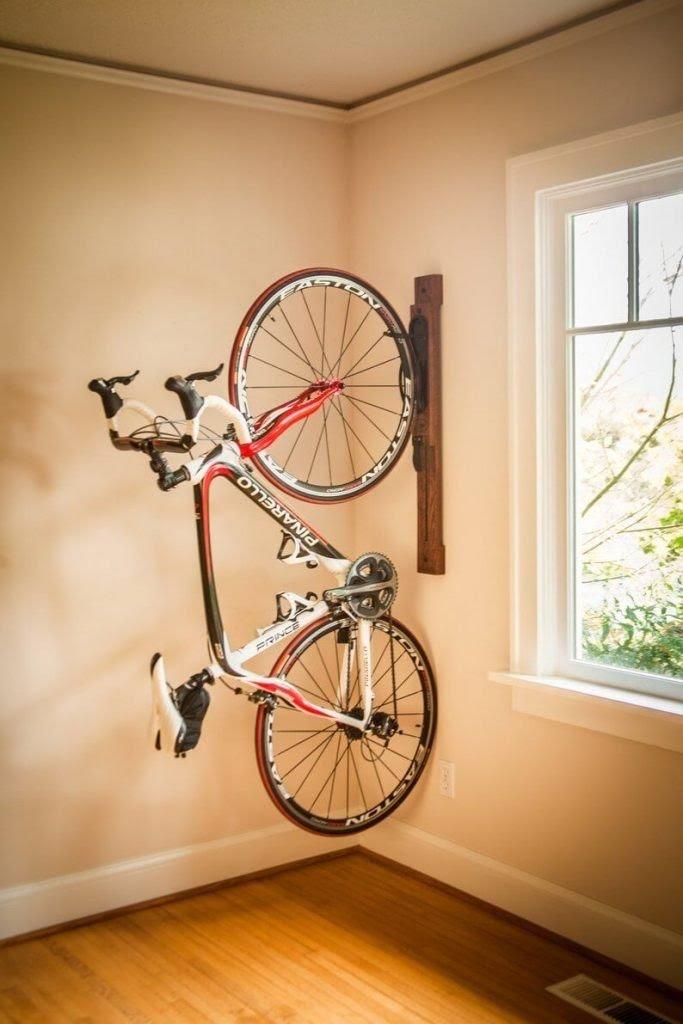 Vertical Bike Storage for Corners