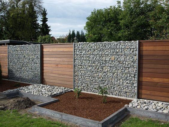 Wood Slats with Stone Walls