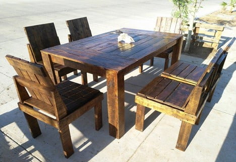 Wooden Chair and Table Set