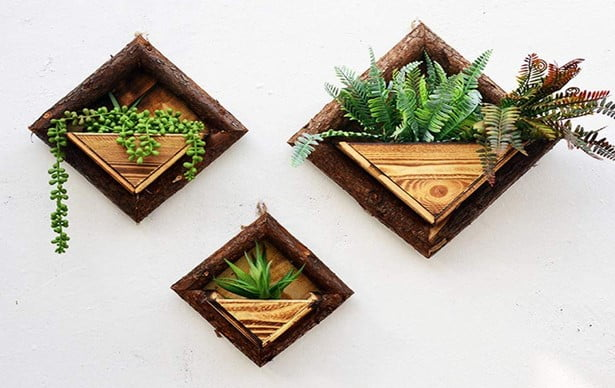 Wooden Wall Mounted Planter