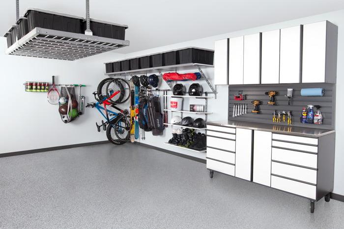 color coordination garage storage