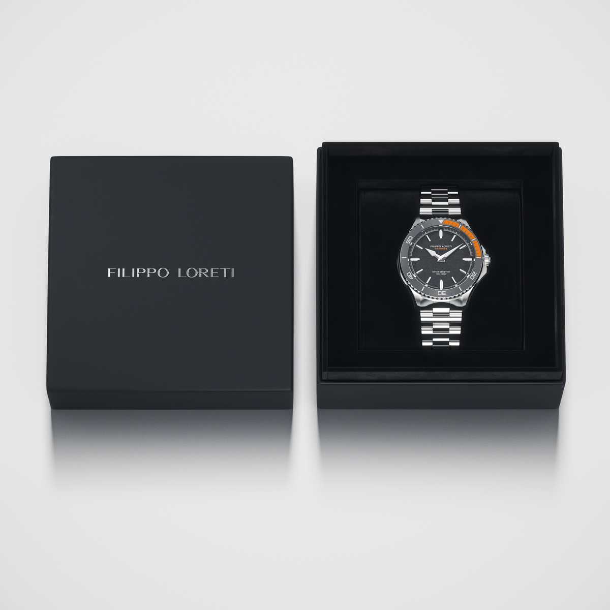 Okeanos Grey Steel Link Men's Watch from Filippo Loreti