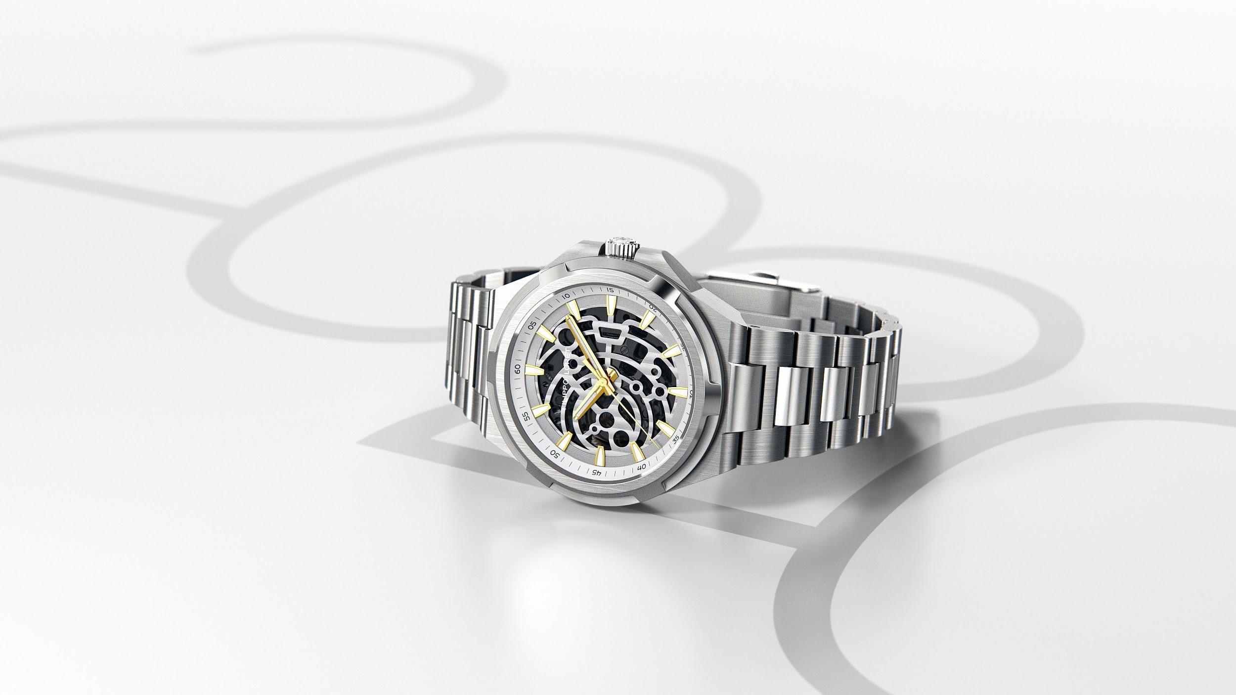 Skeleton Silver Royale Men's Watch from Filippo Loreti