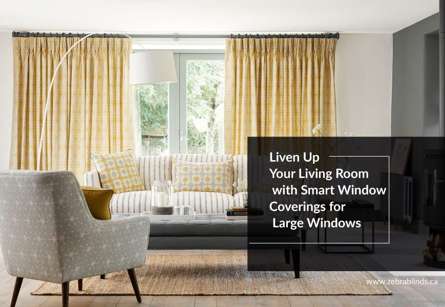 Smart Window Coverings for Large Windows | ZebraBlinds.ca